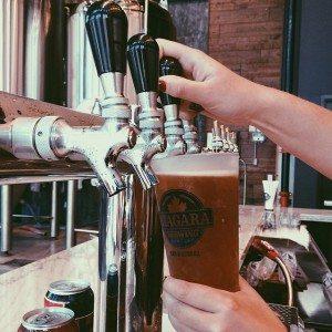 Pouring Beer at Niagara Brewing Company